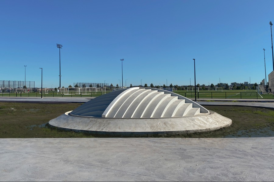 Public art project comprising an unlikely archaeological find beneath the Casey Fields