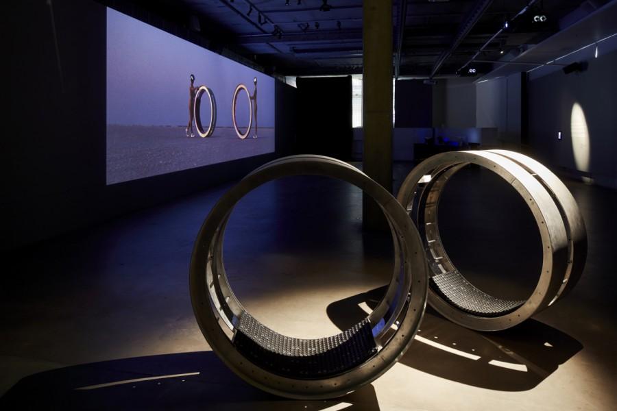2020 Parallaxis, sculpture/ film, Samstag Musuem of Art (Adelaide SA)